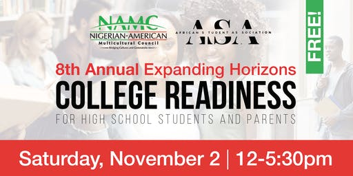 8th Annual NAMC College Readiness for High School Students and Parents