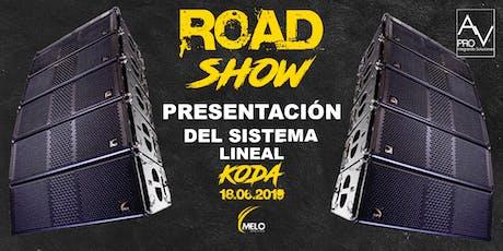 RoadShow Presentación de sistema lineal KODA entradas