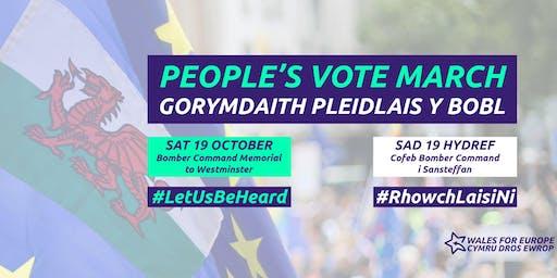 People's Vote March Sat Oct 19th-Brecon/Abergavenny Coach