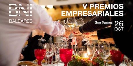 Cena V Premios Empresariales BNI Baleares entradas