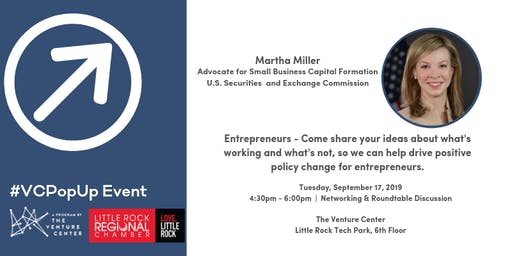 #VCPopUpEvent: Martha Miller, Advocate for Small Business Capital Formation