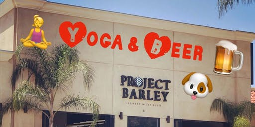 YOGA with Dogs & Beers (DOGA at Project Barley Brewery)
