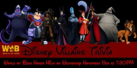 Disney Villains at World of Beer North Hills tickets