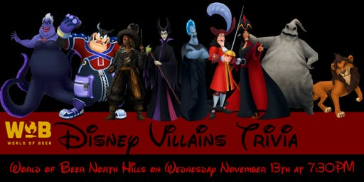 Disney Villains at World of Beer North Hills