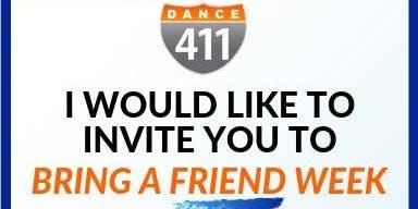 Dance 411: Bring-A-Friend Week Fall 2019