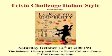 Trivia Challenge Italian-Style tickets