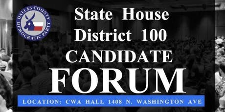 State House District 100 Candidate Forum tickets