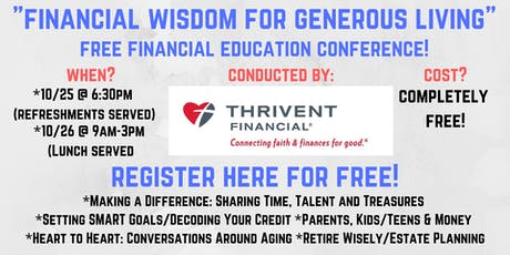 Financial Wisdom For Generous Living! tickets
