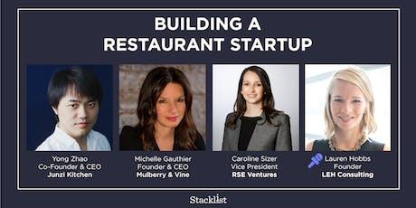 Building a Restaurant Startup tickets
