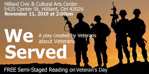 """We Served"" a Semi-Staged Play Reading"