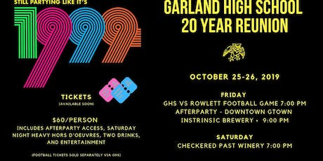 GHS 20 Year Reunion tickets