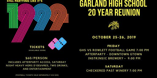GHS 20 Year Reunion