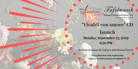 """""""Vivaldi con amore""""  CD launch tickets"""