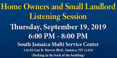 Listening Session: Home Owners & Small Landlords