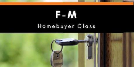 F-M Homebuyer Class - October tickets