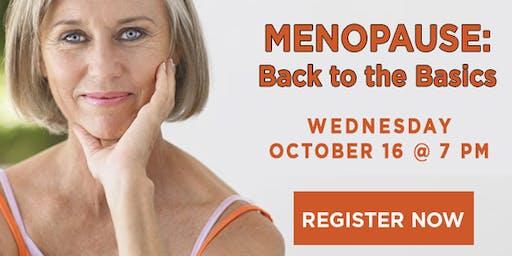 Menopause: Back to the Basics
