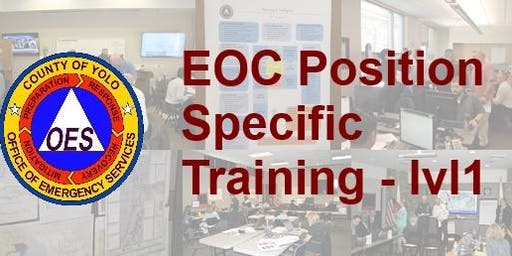 EOC Position Specific Training - level 1, Finance & Administration