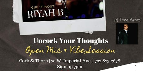 Uncork Your Thoughts: Open Mic Nights tickets