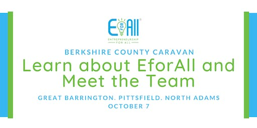 Berkshire County Caravan EforAll Launch Day:  Meet up with us!