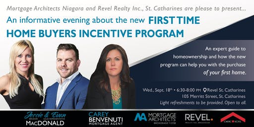 First Time Home Buyers Incentive Program with Revel Realty St Catharines