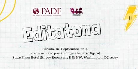 Editatona PADF & Amazona Foundation tickets