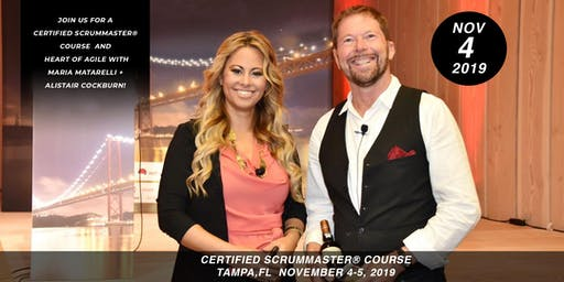 Certified ScrumMaster (CSM) + Heart of Agile Training Class - in Tampa, FL