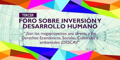 Tercer Foro sobre Inversión y Desarrollo Humano