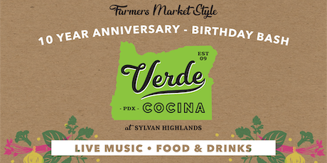 Verde Cocina's 10 Year Birthday Bash tickets