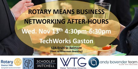 Rotary Means Business (District #7680) Network After-Hours Nov 13th tickets