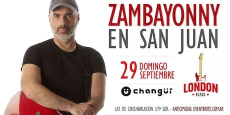 Zambayonny en San Juan entradas