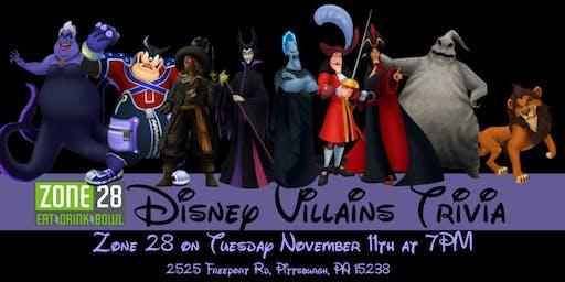 Disney Villains Trivia at Zone 28