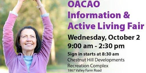 OACAO Information & Active Living Fair