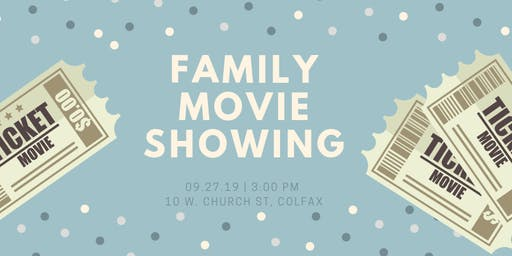 Family Movie Showing @ the Colfax Library