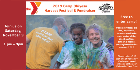 2019 Camp Ohiyesa Harvest Festival and Fundraiser tickets