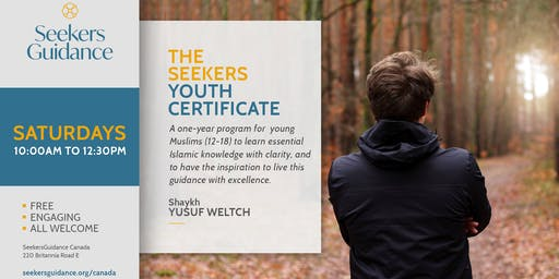 The Seekers Youth Certificate with Shaykh Yusuf Weltch