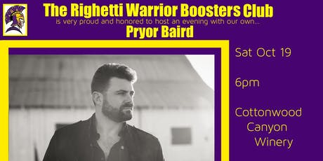 Righetti Warrior Boosters Club Pryor Baird Event tickets