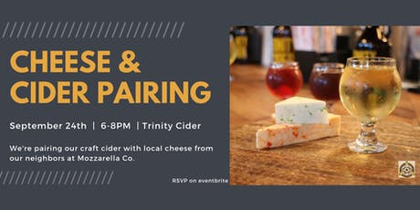 Cheese and Cider Pairing tickets