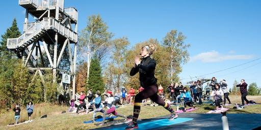 Power-Yoga au sommet avec Valérie Boudreault