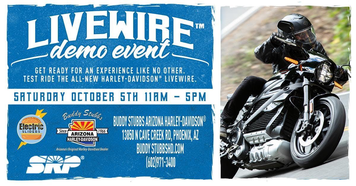 Harley-Davidson® Livewire™ Electric Motorcycle Demo Rides