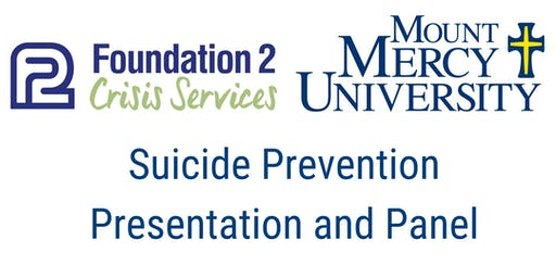 Suicide Prevention  Presentation and Panel