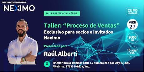 Taller de Ventas Raúl Alberti Mérida boletos