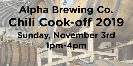 Alpha Brewing Chili Cook-Off 2019 tickets
