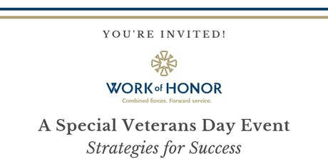 Work of Honor - Special Veterans Day Event tickets