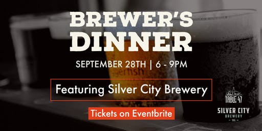 Table 47 Brewer's Dinner with Silver City Brewery