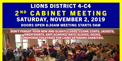 District Lions 4c4 2nd Cabinet Meeting