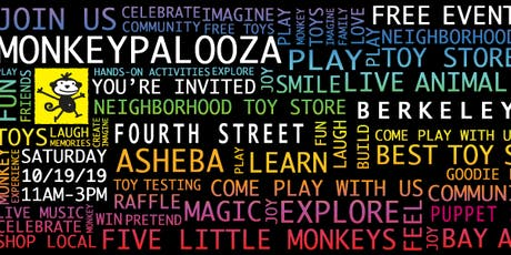 Monkeypalooza on Fourth Street in Berkeley tickets