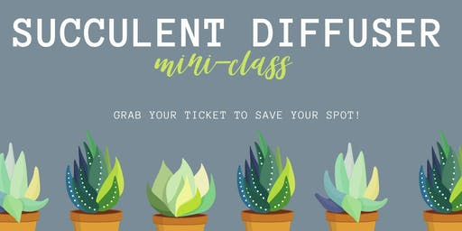 Succulent Diffuser Mini Class