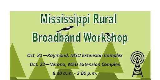 Mississippi Rural Broadband Workshop - Verona