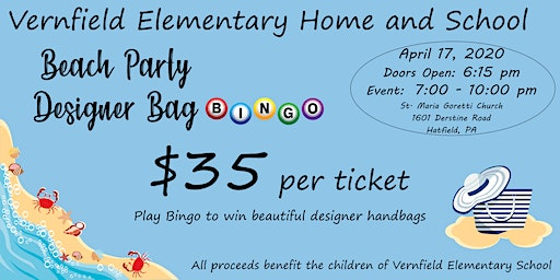 Beach Party Designer Bag Bingo
