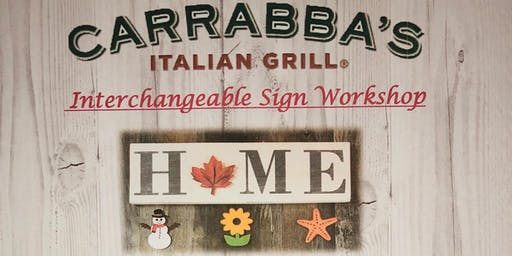 Carrabba's Italian Grill - Interchangeable Sign Workshop - October 30, 2019